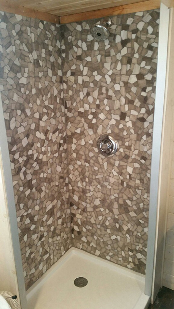 nuur athens mix stone tile shower