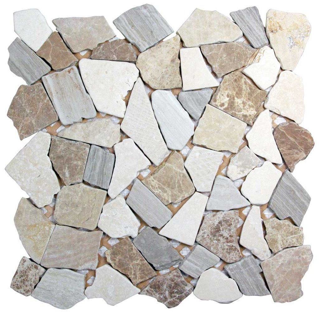 Nuur CBGD Silver Mosaic Stone Tile