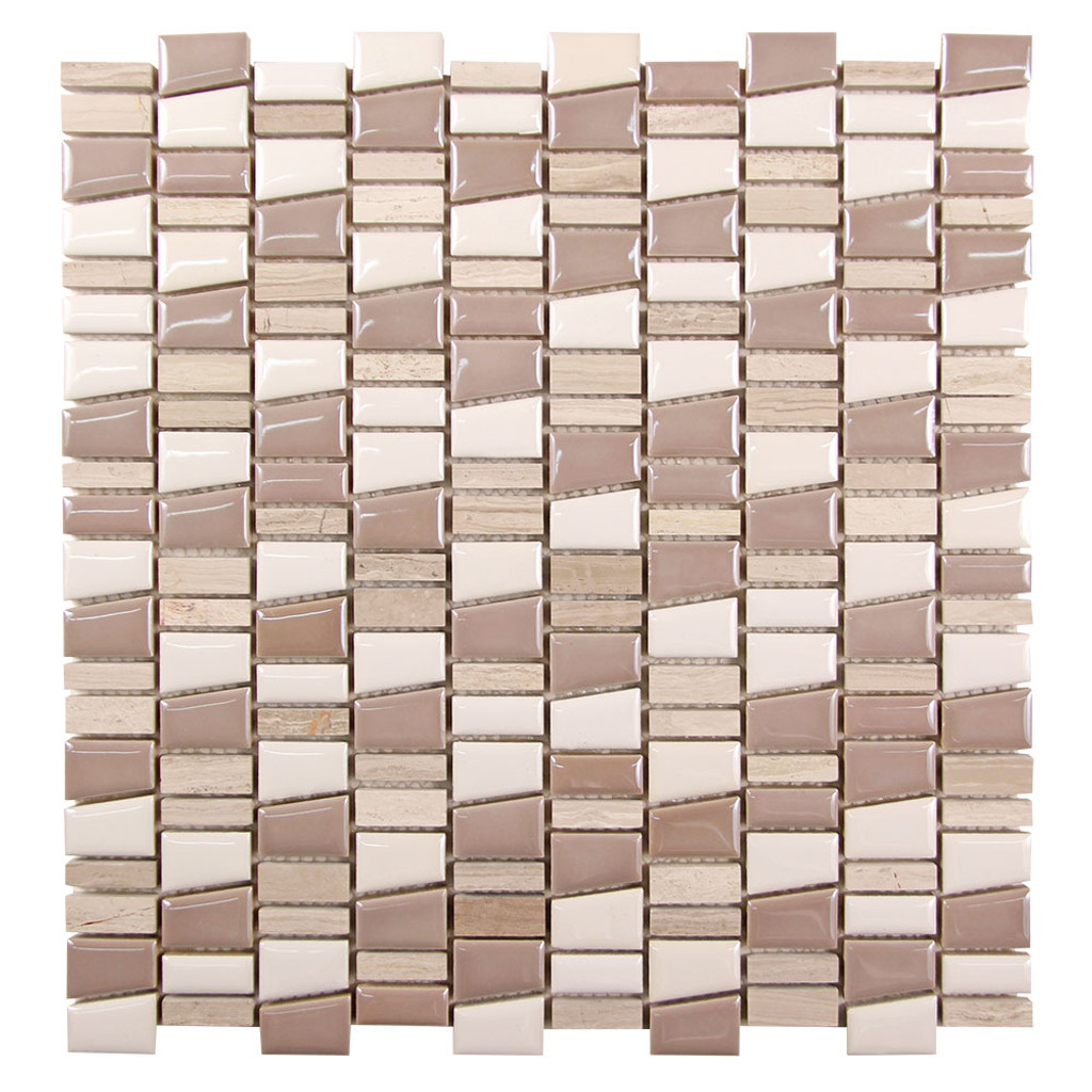 Mirada K Mix Grey and Beige Ceramic and Stone Tile