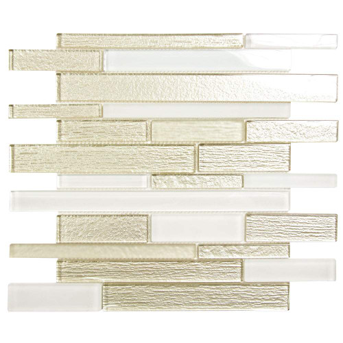 Anora Snow White Mosaic Glass Tile
