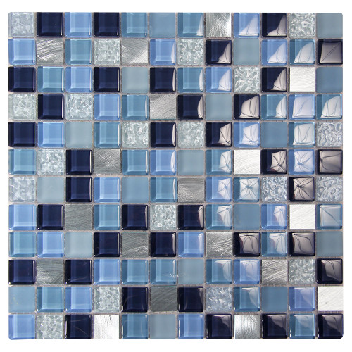 Coeus Majestic Blue Mosaic Glass Tile