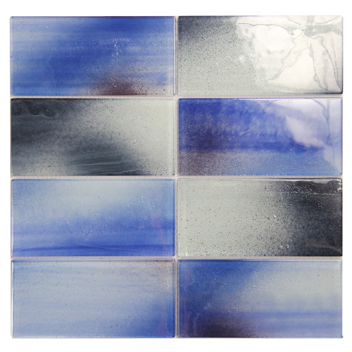 Extant Blue MIx 3x6 Pool Mosaic Glass Tile