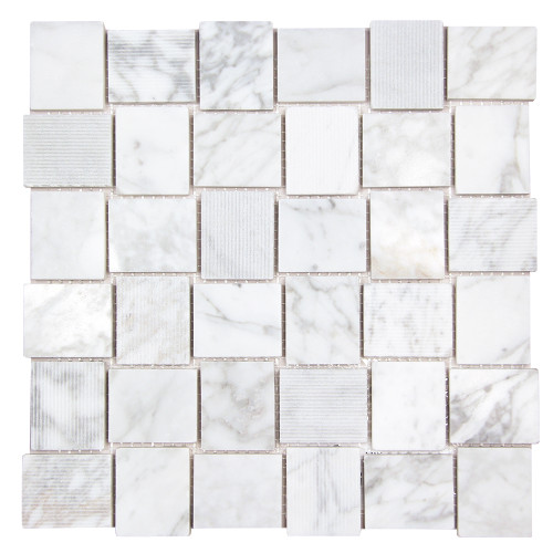 Linker Carrara Mosaic Stone Tile