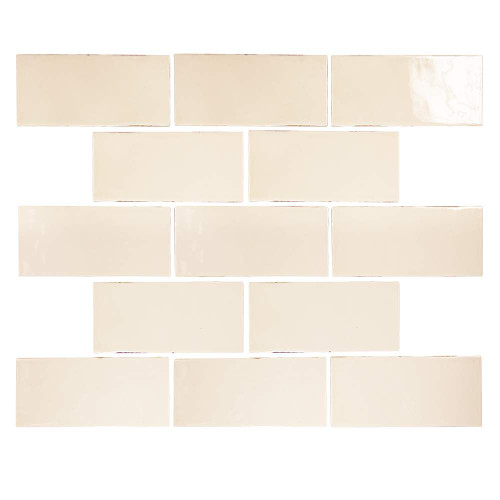 Pastel Buff Glossy 3x6 Porcelain Subway Tile