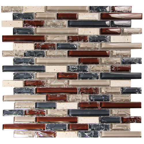 Selene 5 Mosaic Glass Tile