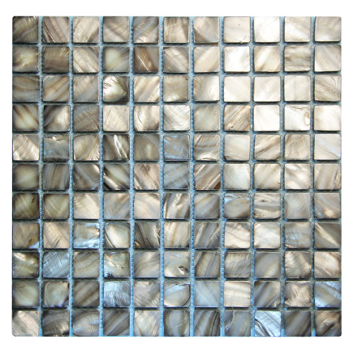 Shell Taupe Mosaic Glass Tile