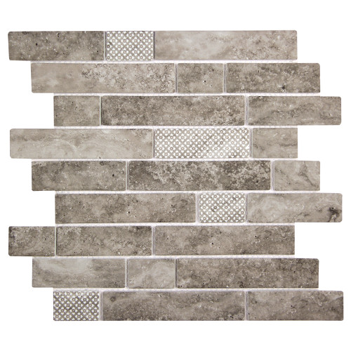 Stickcycle Grey Mix Recycled Glass Tile