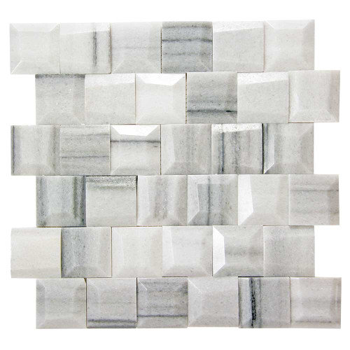 Adamant Marmara Geometric Marble Mosaic Tile