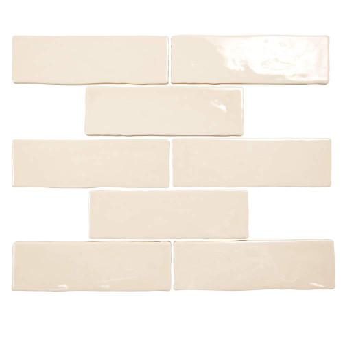 Pastel Buff Beige Glossy 2x8 Porcelain Subway Tile