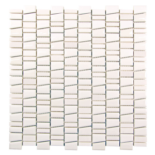Mirada K White Ceramic and Stone Tile