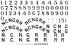 Image of decal sheet - NCNG (printed in white).
