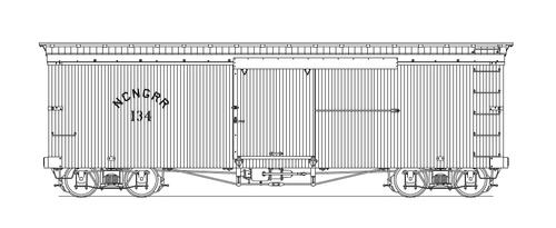 Layout for HOn3 NCNG Box Car.