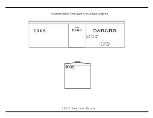 15mm - Fn3 - 1:20.3 D&RG RR 4000 Series 27' Box Car