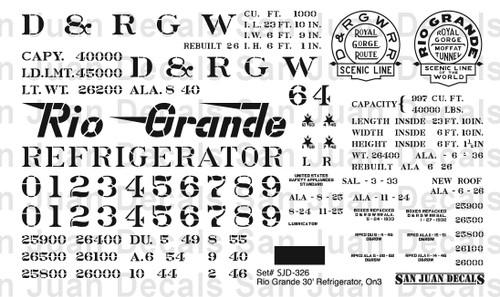On3 D&RGW #32-81 30' Refrigerator Car
