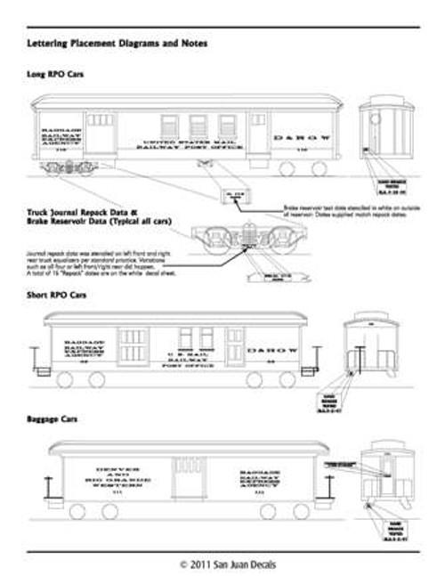 15mm - Fn3 - 1:20.3 D&RGW Baggage Car 1912-1951