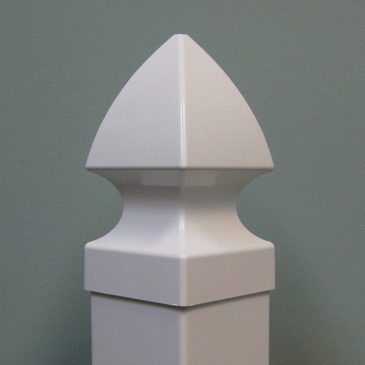 "Essex 4"" x 4"" Vinyl Post Cap - White"