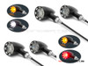 Set Of 4 Black CNC Machined Billet Alum Custom Integrated Front & Rear Turn Signals