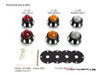 CNC Machined Alum Beehive LED Stop / Tail Lights + Turn Signals + Reverse Lights - Set Of 6