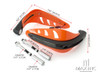 ORANGE Universal Hand Guards with Integrated Amber LED Turn Signals