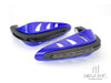 BLUE Universal Hand Guards with Integrated Amber LED Turn Signals