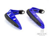BLUE Universal Hand Guards with Integrated White LED Daytime Running Lights