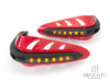RED Universal Hand Guards with Integrated Amber LED Turn Signals