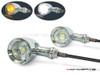 Chrome CNC Machined Billet Alum Custom Integrated LED Turn Signals + Daytime Running Lights