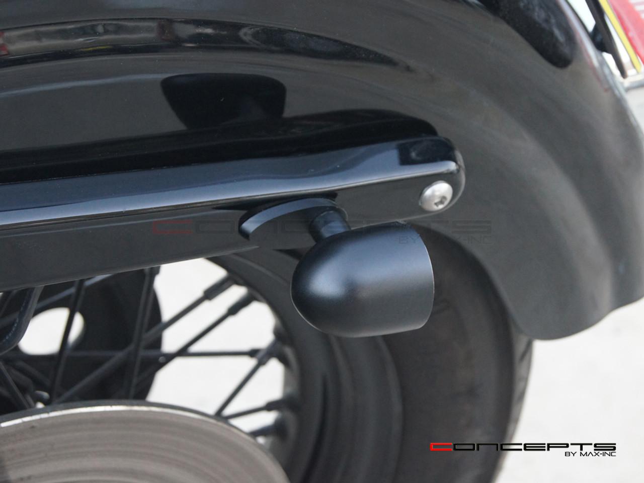 Harley Rear Rail Turn Signal Block Off Adapter Plates