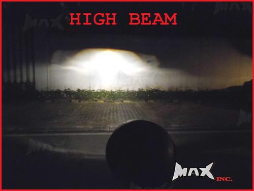 Black Universal Hi / Low Projector Custom Headlight - 55w Halogen Bulb