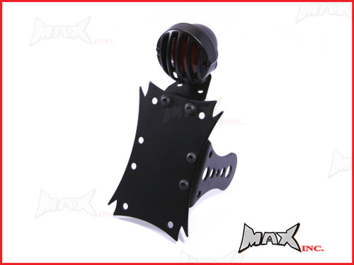 Black Side Axle Mount Prison Bar Grill LED Stop / Tail Light