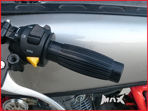 """Black Barrel Cafe Racer Style Hand Grips - 7/8"""" (22mm)"""