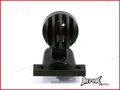 Matte Black Aluminium Mini Prison Grill LED Stop / Tail Light - Red Lense