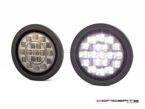 "4"" Universal Flush Mount LED Reverse Lights - Smoked Lens"