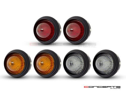 "2.75"" Universal Alum LED Stop / Tail Lights + Turn Signals + Reverse Lights - Set Of 6"