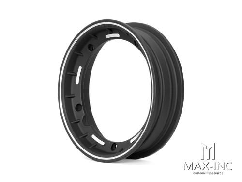 Black Alloy Tubeless Wheel Rim - Vespa PX, Sprint, T5, LML, Stella