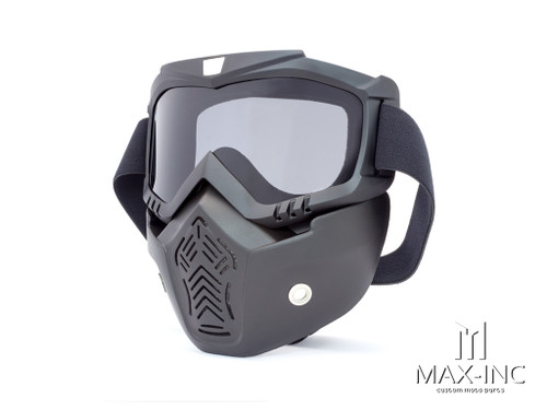 Open Face Helmet Bikers Full Face Mask / Goggles - Smoked Lens