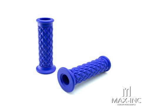 "Blue Diamond Cafe Racer Style Hand Grips - 7/8"" (22mm)"