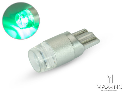 12v / T10 W5W LED Projector Bulb - Green