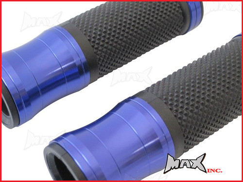 BLUE CNC Machined Aluminium / Rubber Grips - 7/8