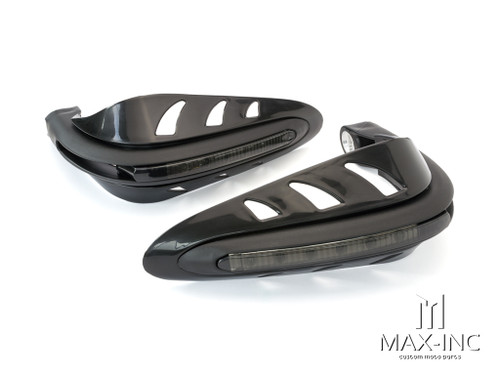 BLACK Universal Hand Guards with Integrated LED Daytime Running Lights