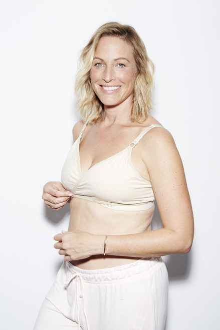 Arden Naked All on One Nursing and Handsfree Pumping Bra in Creme