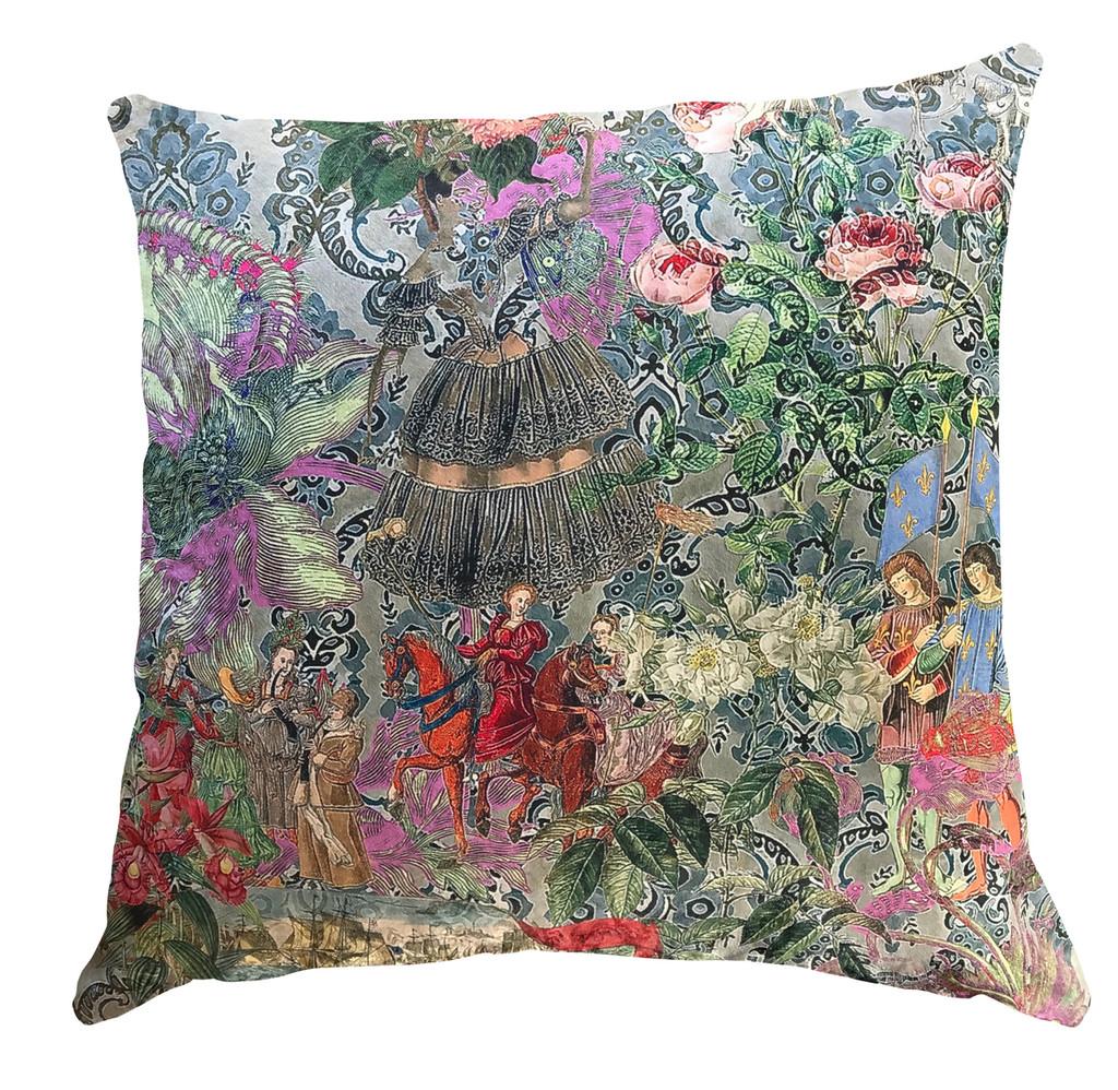 Cushion - Fancy Floral Remix - Wallpaper Flowers