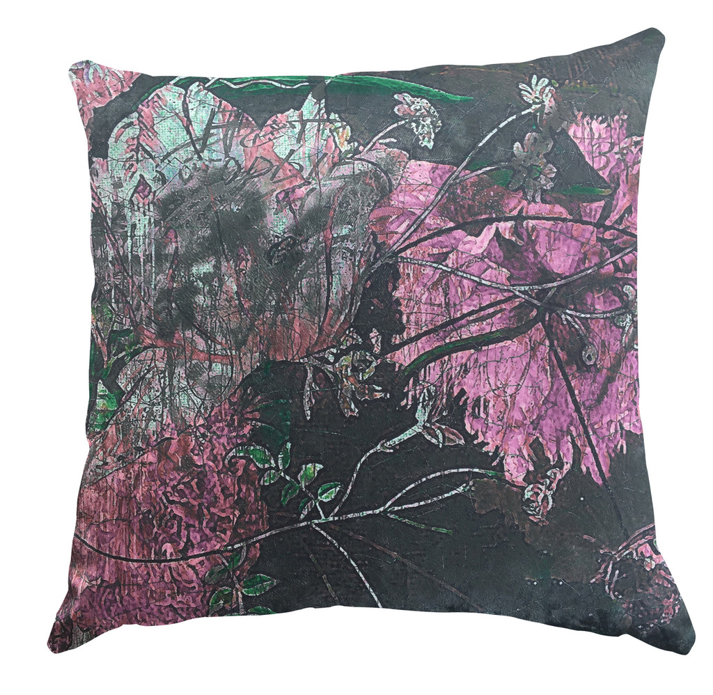 Cushion - Still Life with Flowers - Rose Pink
