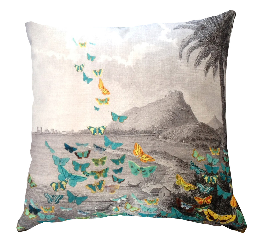Cushion - Butterfly Storm - Tropical