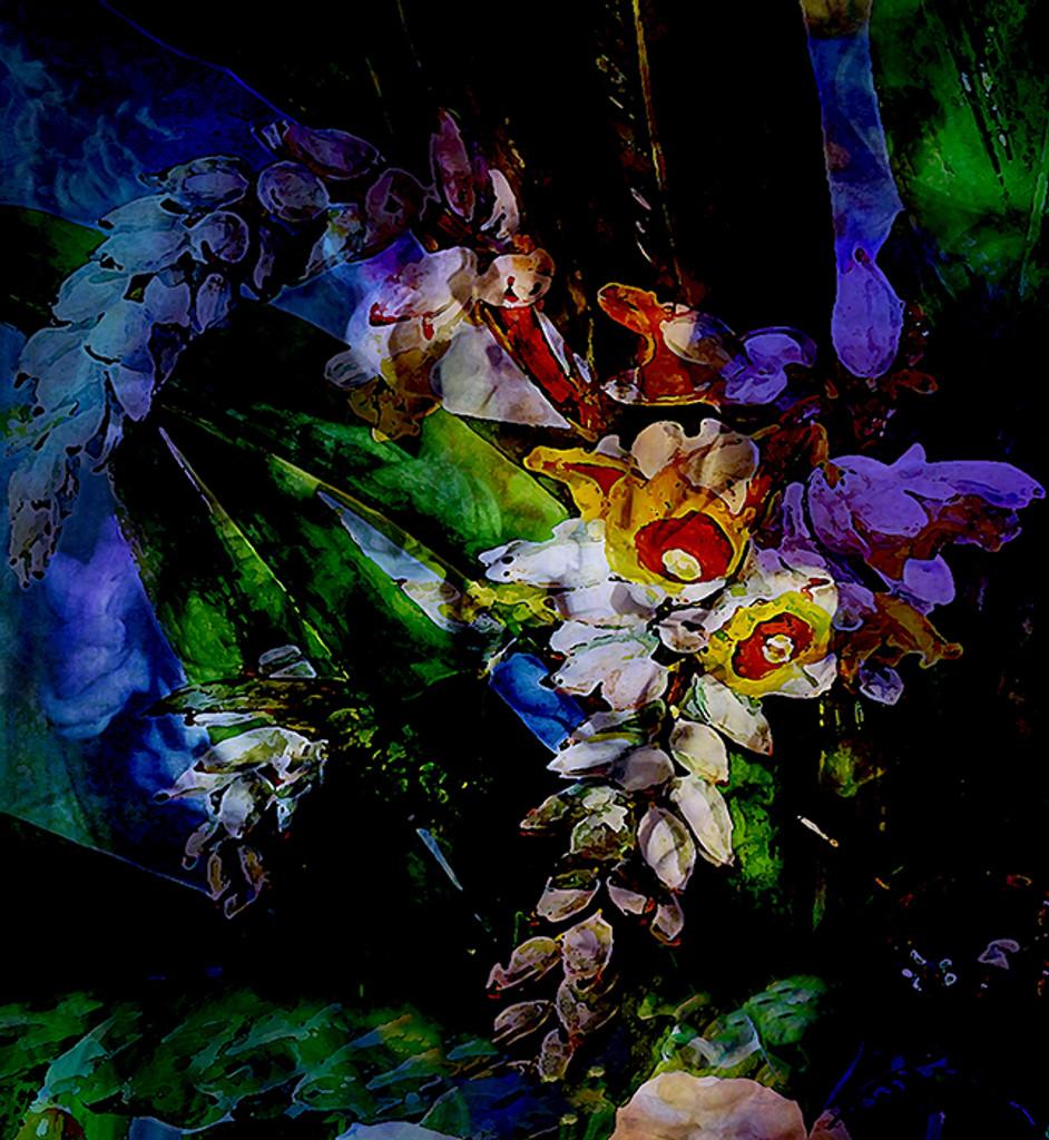 Fabric - Flower Power - Luminescent