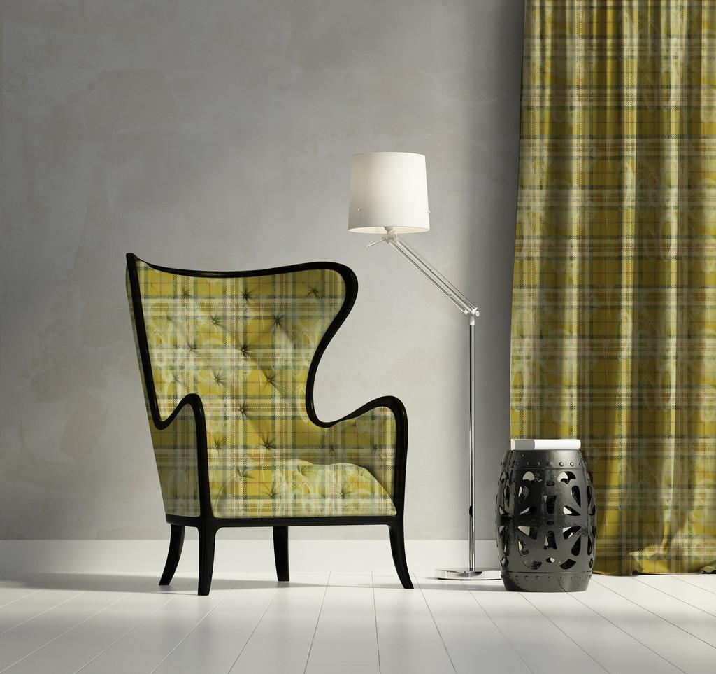 Fabric - Tartan - Sludgy Yellow