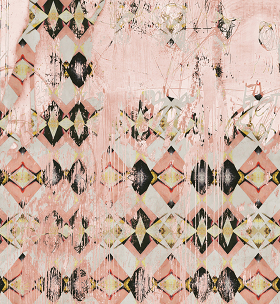 Fabric - Diamond Bling - Faded Pink