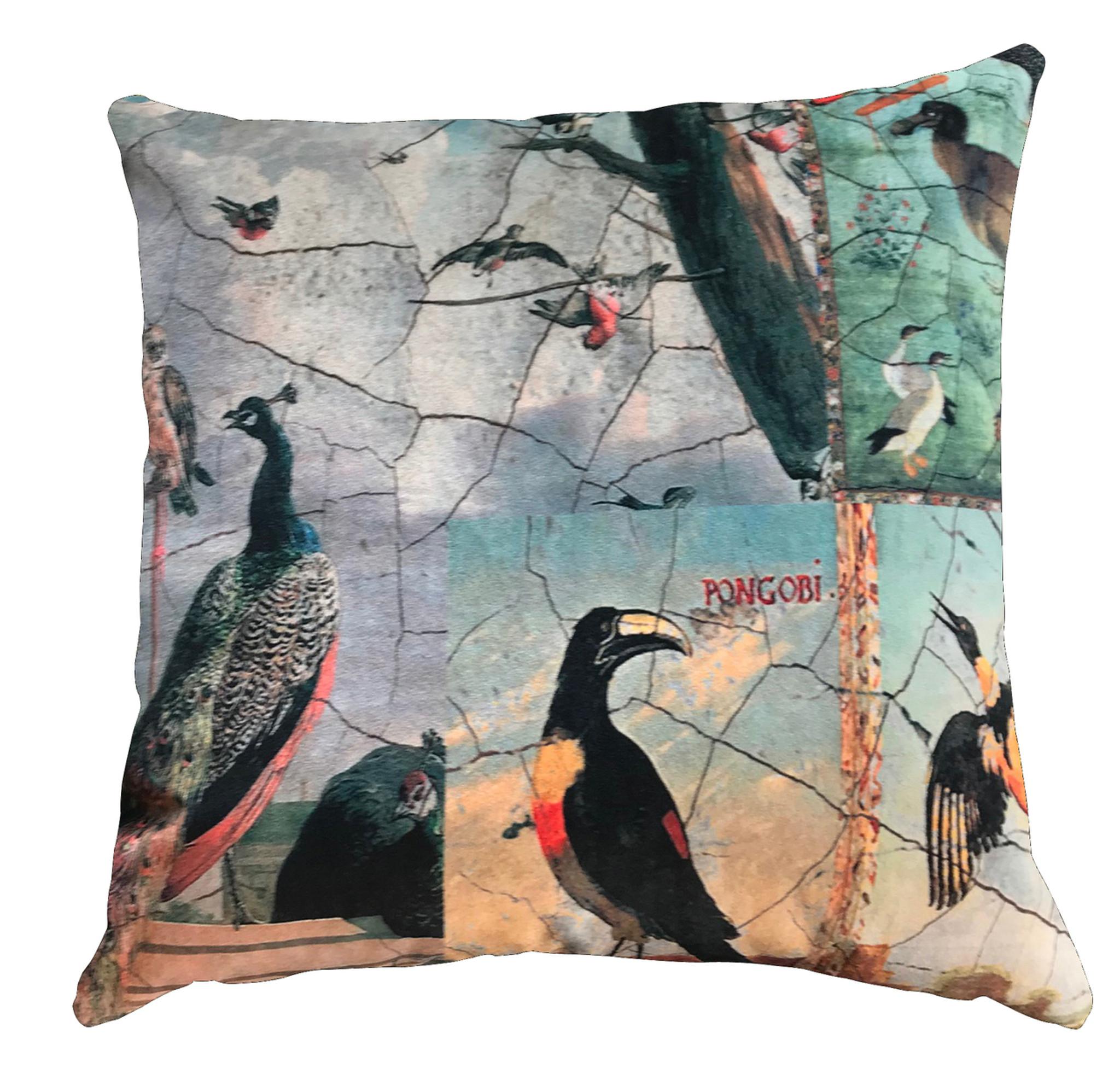 Cushion - The Birds with Peacock
