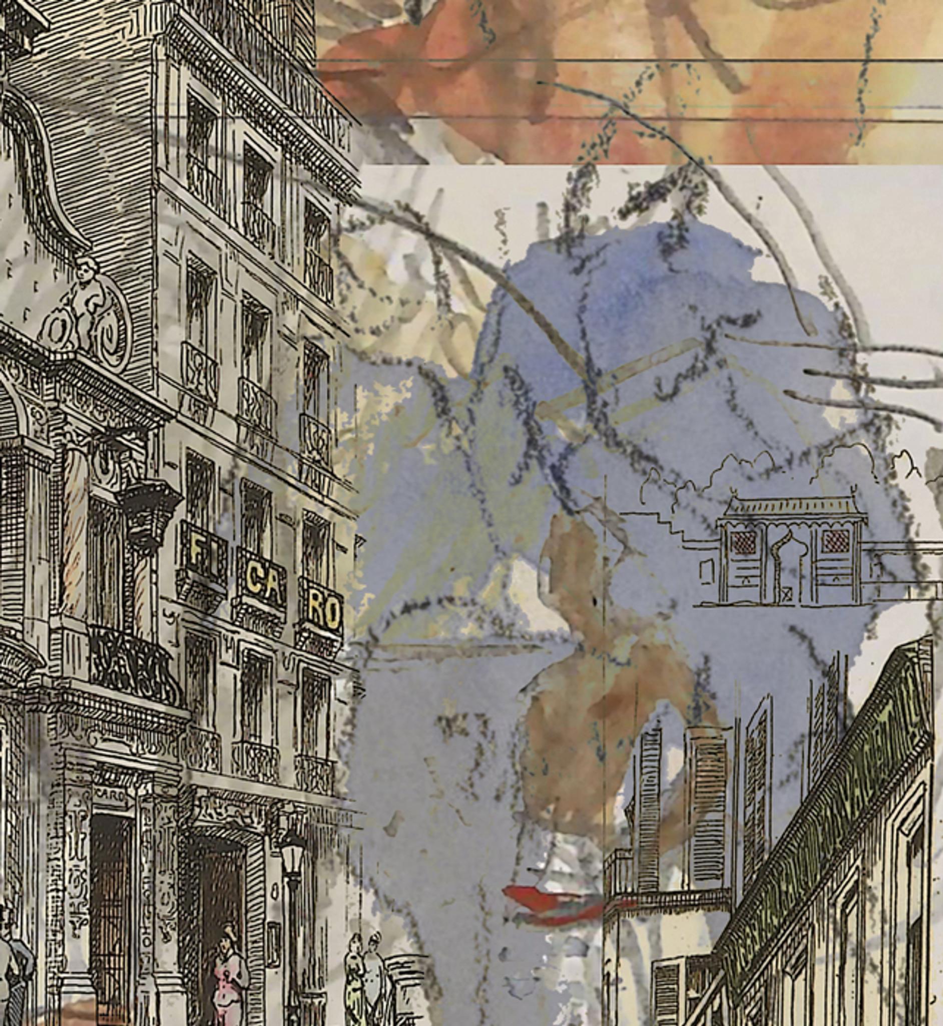 Fabric - Urban Sketches - Paris