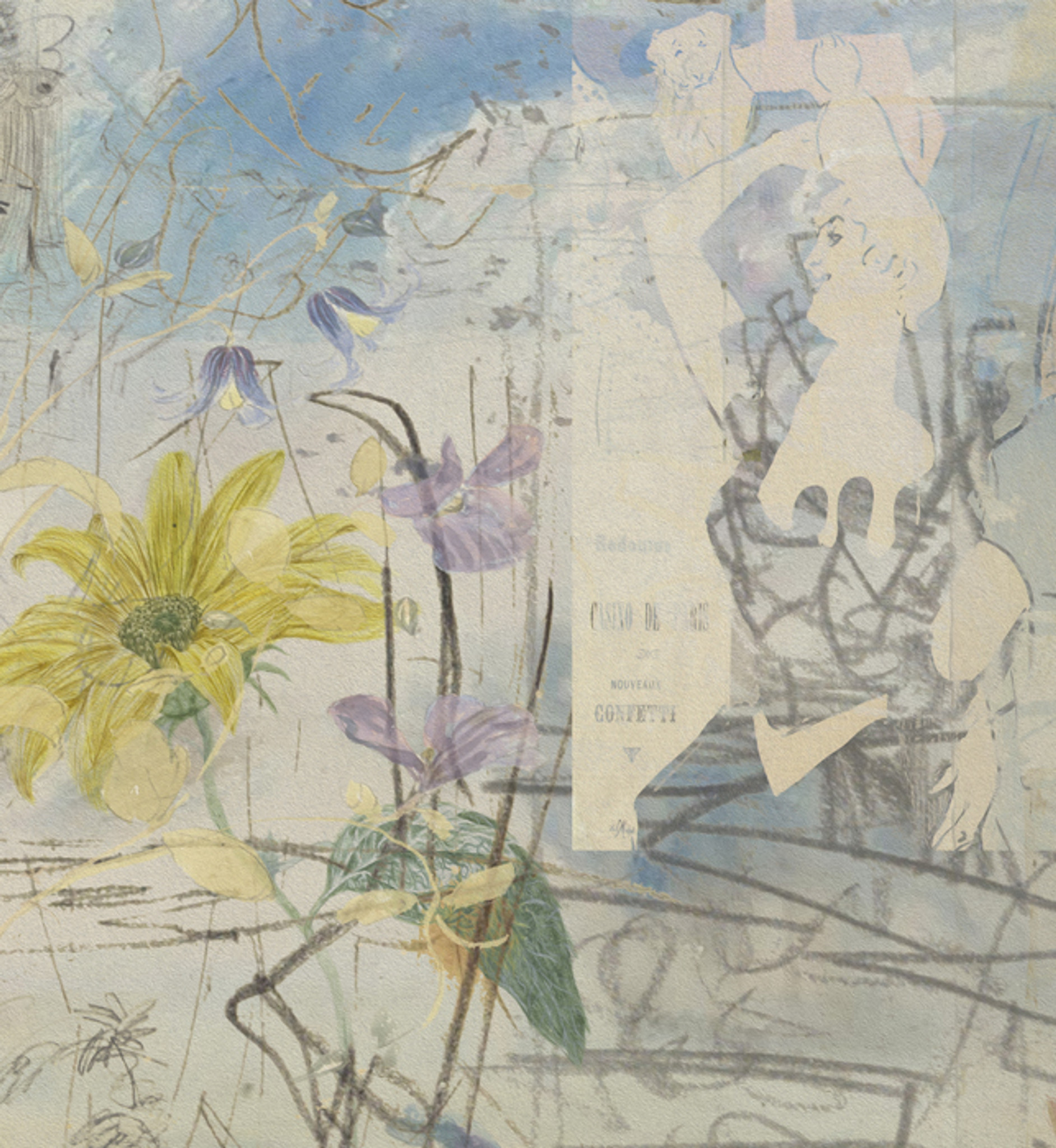 Wallpaper - Urban Sketches - Moulin Girls